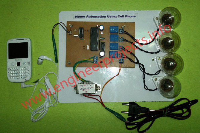 Home automation control system using dtmf telephone line project